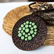 Украшения ручной работы. Ярмарка Мастеров - ручная работа Кулон из полимерной глины Найроби. Handmade.
