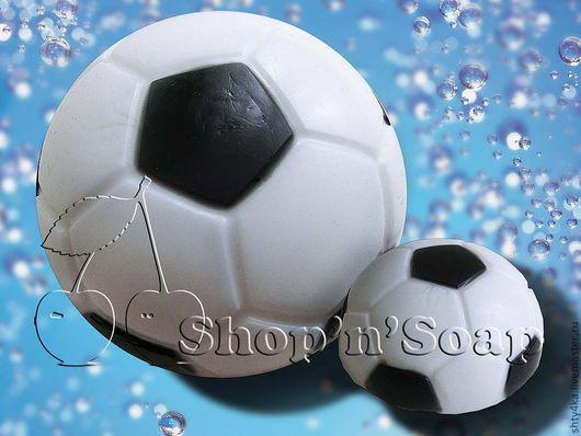 """Мыло ручной работы. Ярмарка Мастеров - ручная работа. Купить Мыло """"Футбольный мяч"""" 2D. Handmade. Мыло ручной работы"""