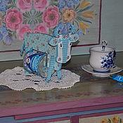 Для дома и интерьера ручной работы. Ярмарка Мастеров - ручная работа Буренка cо  сгущенкой. Handmade.