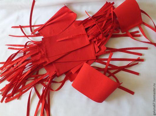 """Одежда унисекс ручной работы. Ярмарка Мастеров - ручная работа. Купить """"Дежурный"""" повязки нарукавные красные 14 шт. Handmade."""