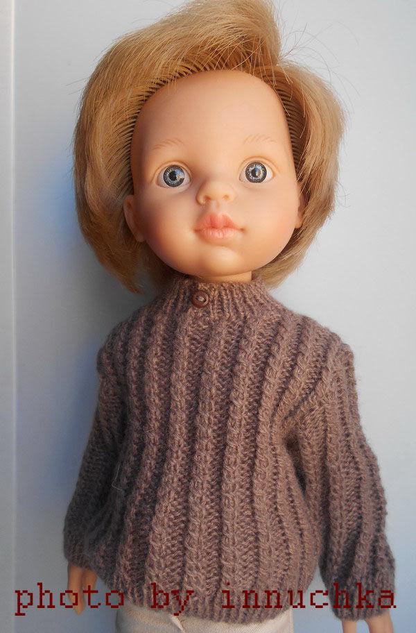 Свитер для мальчишек Паола Рейна коричневый, Одежда для кукол, Санкт-Петербург,  Фото №1