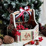 """Подарки к праздникам ручной работы. Ярмарка Мастеров - ручная работа Лукошко """"Рождество"""". Handmade."""