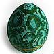 Сувенирное пасхальное яйцо `Малахит` вид сверху