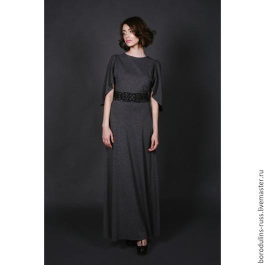 Платья ручной работы. Ярмарка Мастеров - ручная работа. Купить Платье П 16-08. Handmade. Серое платье