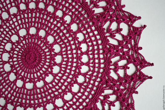 """Текстиль, ковры ручной работы. Ярмарка Мастеров - ручная работа. Купить Салфетка S105 """"Страстная фуксия"""". Handmade. Фуксия"""