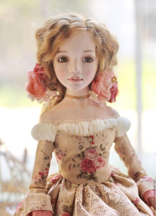 Коллекционные куклы ручной работы. Ярмарка Мастеров - ручная работа. Купить Диана. Handmade. Коралловый, золотистый, подарок девочке