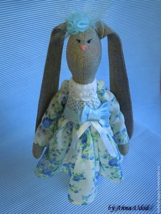 Куклы Тильды ручной работы. Ярмарка Мастеров - ручная работа. Купить Заяц тильда ретро. Handmade. Голубой, зайчики, зайчонок