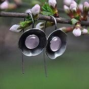 Украшения handmade. Livemaster - original item Earrings silver Sakura pink quartz. Handmade.