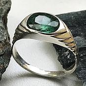 Украшения handmade. Livemaster - original item Bright natural Emerald 1,56 ct women`s silver emerald ring. Handmade.