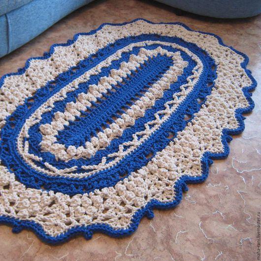 Текстиль, ковры ручной работы. Ярмарка Мастеров - ручная работа. Купить Ковёр Овальный. Handmade. Ковер овальный, ковер на заказ