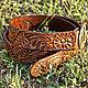 Order Leather belt 'Classic brown'. schwanzchen. Livemaster. . Straps Фото №3