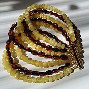 Украшения handmade. Livemaster - original item Bracelet `Striped` Baltic amber. Handmade.