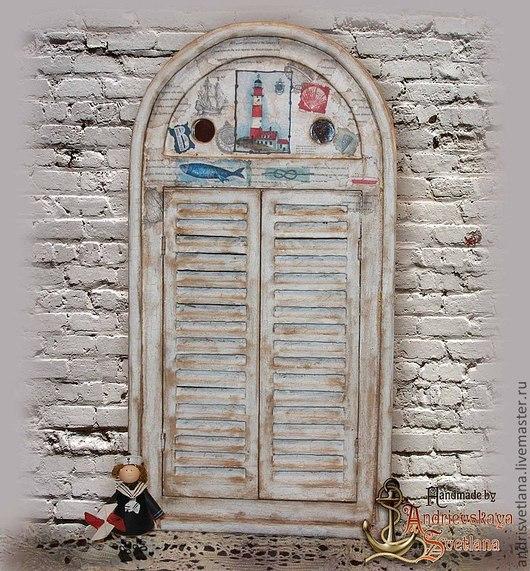 Зеркала ручной работы. Ярмарка Мастеров - ручная работа. Купить Зеркало Старый маяк. Handmade. Белый, зеркало в морском стиле