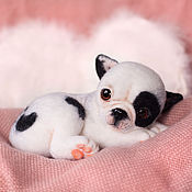 Куклы и игрушки ручной работы. Ярмарка Мастеров - ручная работа Французский бульдог щенок  Пинки. Handmade.