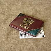 Канцелярские товары handmade. Livemaster - original item ID card cover with inserts of crocodile elements.. Handmade.