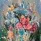 Картины цветов ручной работы. Ярмарка Мастеров - ручная работа. Купить Букет Ирисов. Handmade. Разноцветный, картина в подарок