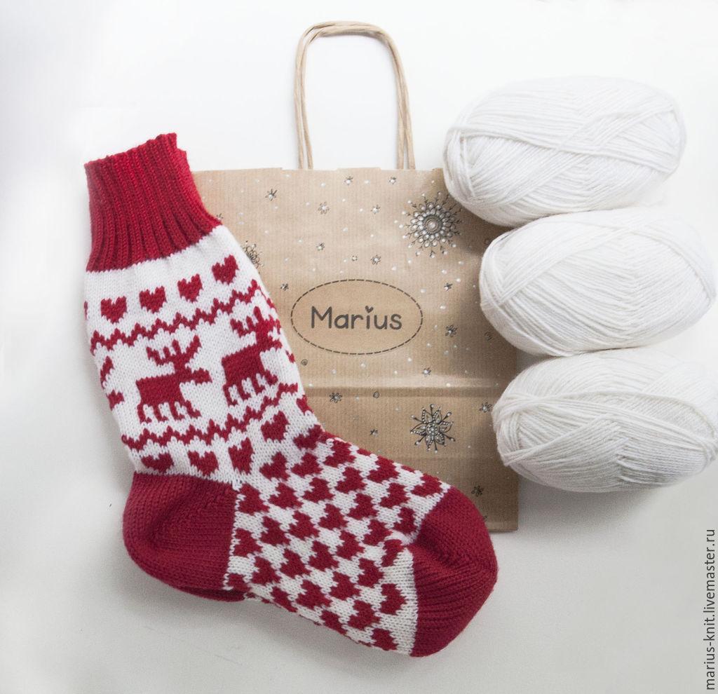 Носки для подарков связать 51