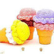 """Материалы для творчества ручной работы. Ярмарка Мастеров - ручная работа Силиконовая форма """"Мороженое двойное в рожке"""", 3д. Handmade."""