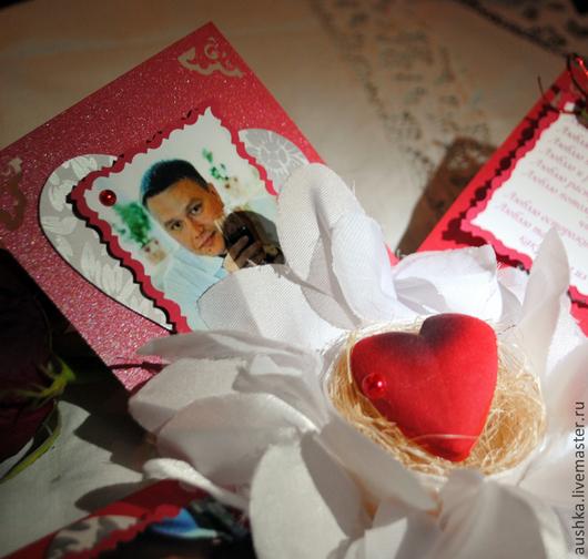 Валентинки ручной работы. Ярмарка Мастеров - ручная работа. Купить Коробочка-фотоальбом Признание в любви Сердце Любимому Для пары Двое. Handmade.