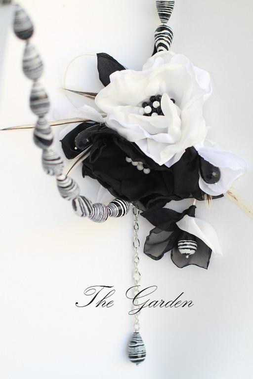 The Garden. Пояс с цветами из ткани. Женский пояс. Пояс-бусы.