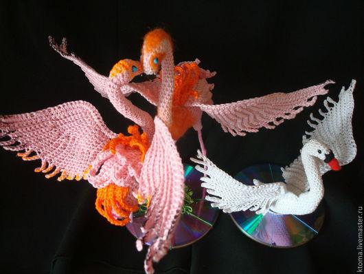 Обучающие материалы ручной работы. Ярмарка Мастеров - ручная работа. Купить МК  общий - фламинго+лебедь.Авторская работа. Handmade.