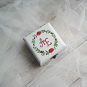 Свадебный салон ручной работы. Ярмарка Мастеров - ручная работа Red Roses Wed свадебная шкатулка для обручальных колец. Handmade.
