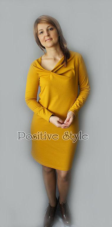 """Платья ручной работы. Ярмарка Мастеров - ручная работа. Купить Платье """"Линда"""". Handmade. Однотонный, повседневное платье, желтый"""