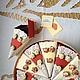"""Открытки на день рождения ручной работы. Ярмарка Мастеров - ручная работа. Купить Торт с пожеланиями """"Розы и кружево"""". Handmade."""