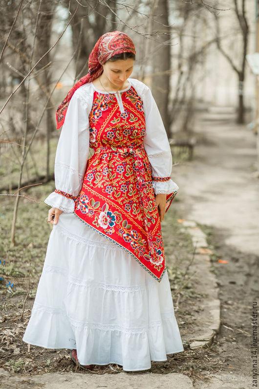Блузки ручной работы. Ярмарка Мастеров - ручная работа. Купить Костюм с барановскими платками. Handmade. Комбинированный, стилизованный костюм