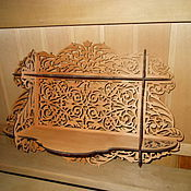 Для дома и интерьера manualidades. Livemaster - hecho a mano Tallada estante en la pared. Handmade.