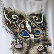 Одежда handmade. Livemaster - original item Women`s t-shirt painting