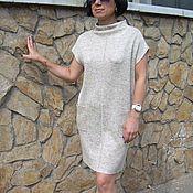 Одежда ручной работы. Ярмарка Мастеров - ручная работа платье-мешок льняное вязанное. Handmade.
