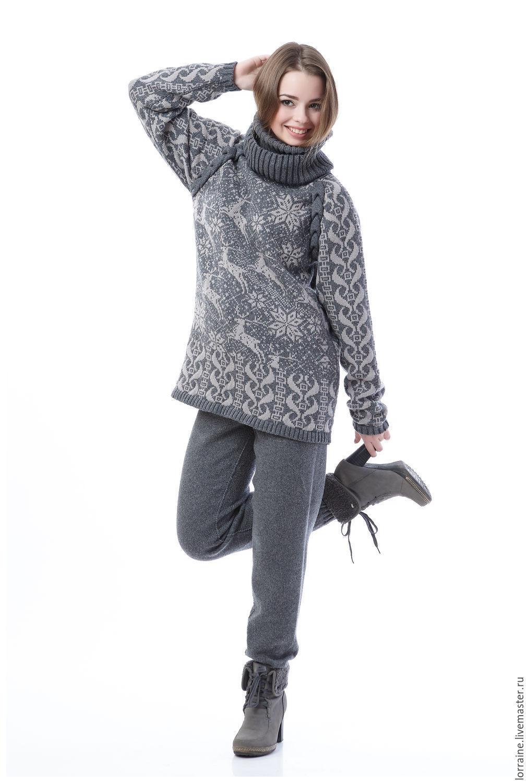 вязаный костюм сны о северном городе свитер леггинсы из 100
