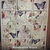 """Для дома и интерьера ручной работы. Ярмарка Мастеров - ручная работа Комод-пазл """"Бабочки"""". Handmade."""