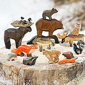 """Вальдорфские куклы и звери ручной работы. Ярмарка Мастеров - ручная работа Набор """" Карельские звери"""". Handmade."""
