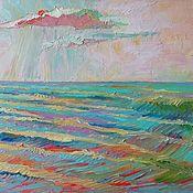 """Картины ручной работы. Ярмарка Мастеров - ручная работа """"Нежное море"""" морской пейзаж маслом. Handmade."""
