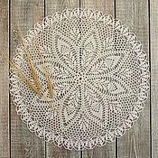 Для дома и интерьера ручной работы. Ярмарка Мастеров - ручная работа Салфетка крючком Пшеничный цвет. Handmade.