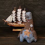 Куклы и игрушки ручной работы. Ярмарка Мастеров - ручная работа Мишка Blueberry Коллекция Take me to the sea. Handmade.