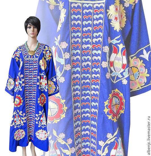 """Платья ручной работы. Ярмарка Мастеров - ручная работа. Купить платье """"Синева небес"""". Handmade. Тёмно-синий, Ультрамарин"""