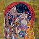 Люди, ручной работы. Заказать Картина из шерсти  Поцелуй  Г. Климта. Светлана Желяева. Картины из шерсти. Ярмарка Мастеров. Картина