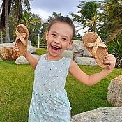Тапочки ручной работы. Ярмарка Мастеров - ручная работа Детские плетеные тапочки ручной работы. Handmade.