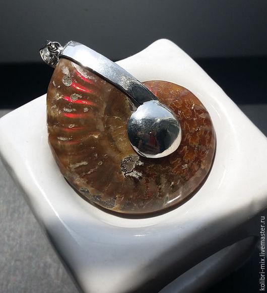 Для украшений ручной работы. Ярмарка Мастеров - ручная работа. Купить кулон аммонит  5.5 х 4.5 см. Handmade.