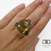 Украшения handmade. Livemaster - original item Ring with citrine. 925 sterling silver. Handmade.