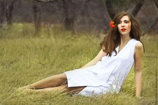 """Платья ручной работы. Ярмарка Мастеров - ручная работа. Купить Платье """" DELICATE"""". Handmade. Белый, платье без рукавов"""