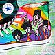 Кеды `Beatles`. Кеды Конверс Converse с росписью. Роспись кед. `Битлз`. Диана Чентукова. Diana Chentukova. #ShoesDream. Shoes Dream