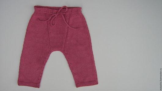 Для новорожденных, ручной работы. Ярмарка Мастеров - ручная работа. Купить Штанишки для новорожденной девочки. Handmade. Розовый, детская одежда