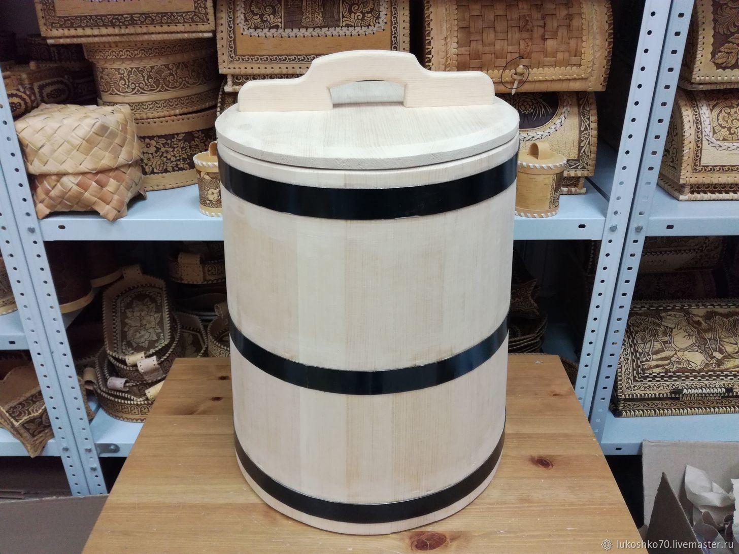 The cedar tub for 40 litres of pickles. Bath tub, Kadka, Tomsk,  Фото №1