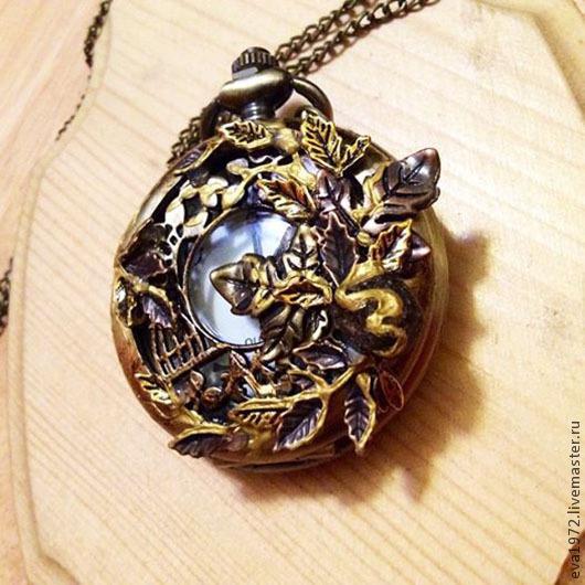"""Часы ручной работы. Ярмарка Мастеров - ручная работа. Купить Часы кулон(медальон) стимпанк """"Фанталини"""". Handmade. Часы, часы-подвеска"""
