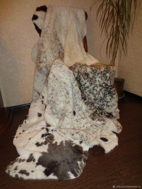 Текстиль, ковры ручной работы. Ярмарка Мастеров - ручная работа. Купить Ковер (плед, покрывало) из натурального меха. Handmade. Для дома