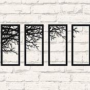 """Панно ручной работы. Ярмарка Мастеров - ручная работа Модульное панно """"Ветки дерева"""". Handmade."""